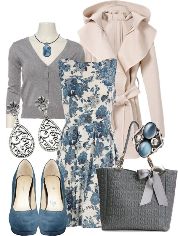 """Blue Roses"" by stylesbyjoey on Polyvore"