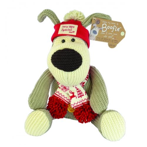 Boofle medium plush in winter hat & scarf very very special