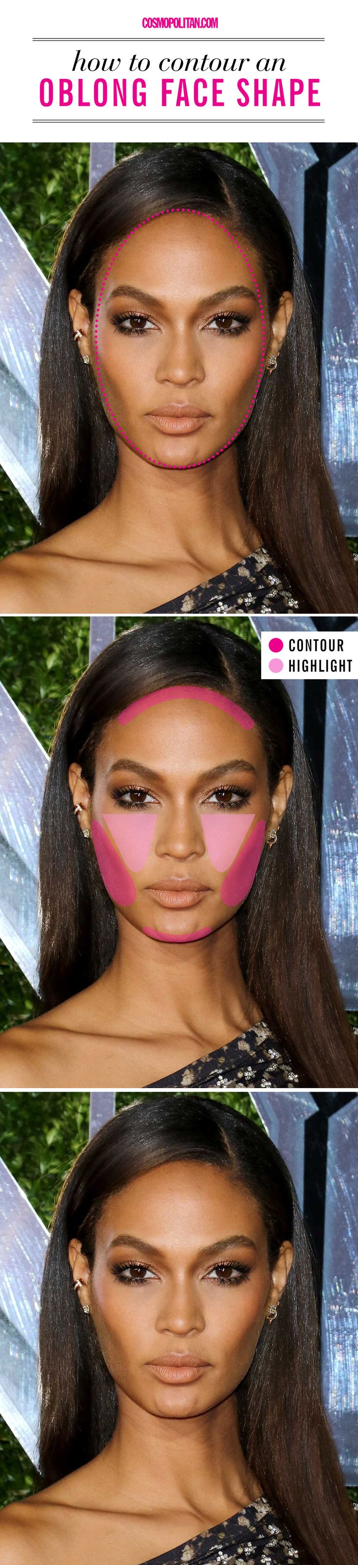 How to contour if you have an oblong face shape.