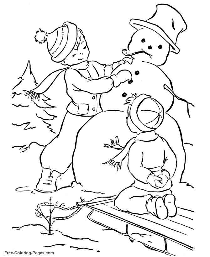 180 best KIds Winter Color Fun images on Pinterest Coloring
