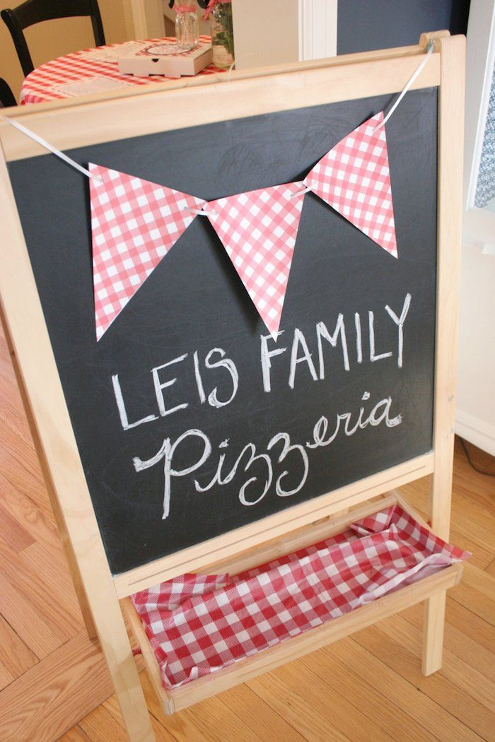 Pizza Chef themed birthday party with Lots of Fun Ideas via Kara's Party Ideas | Cake, decor, desserts, favors, printables, games, and MORE!...