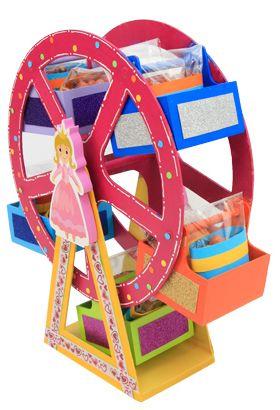 Rueda de la fortuna para fiestas infantiles / Decoración para centro de mesa / niña