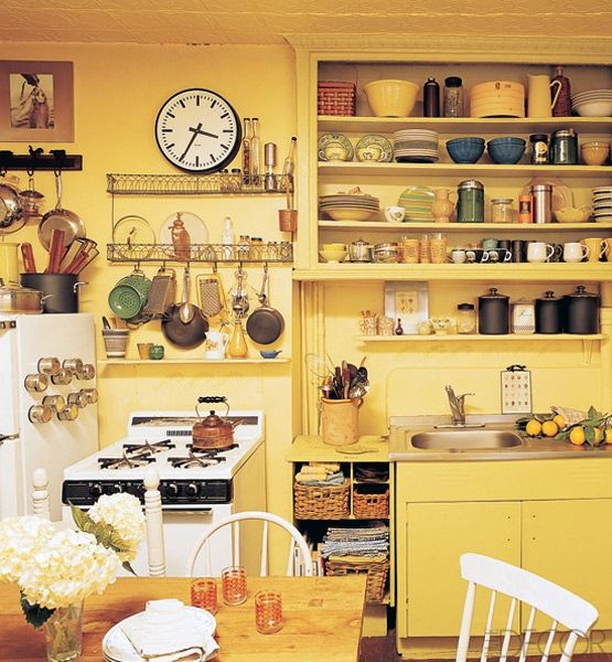 Kitchens, Yellow kitchens and Grasses on Pinterest