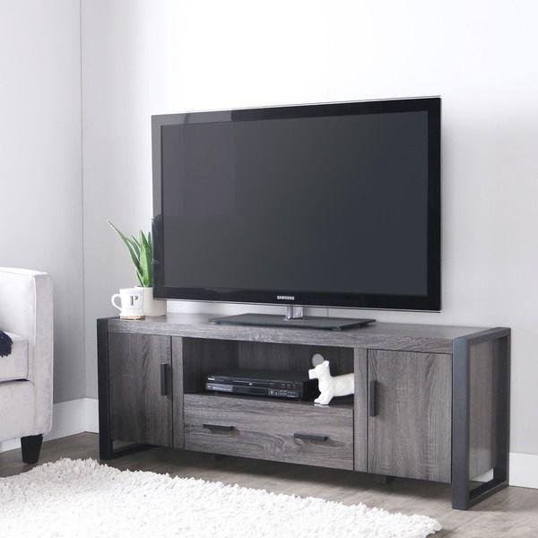 60 inch Charcoal Grey TV Stand 22 in. H x 60 in. W x 16 in. D