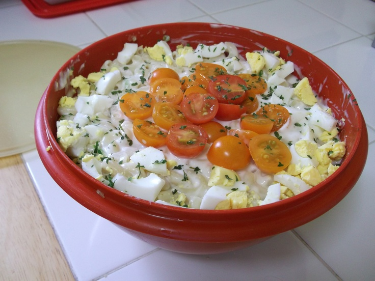 Macaroni & tomato salad | Food | Pinterest