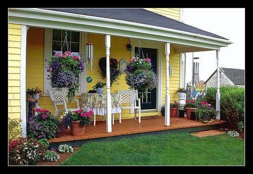 Here we have  a small Farmhouse Porch.