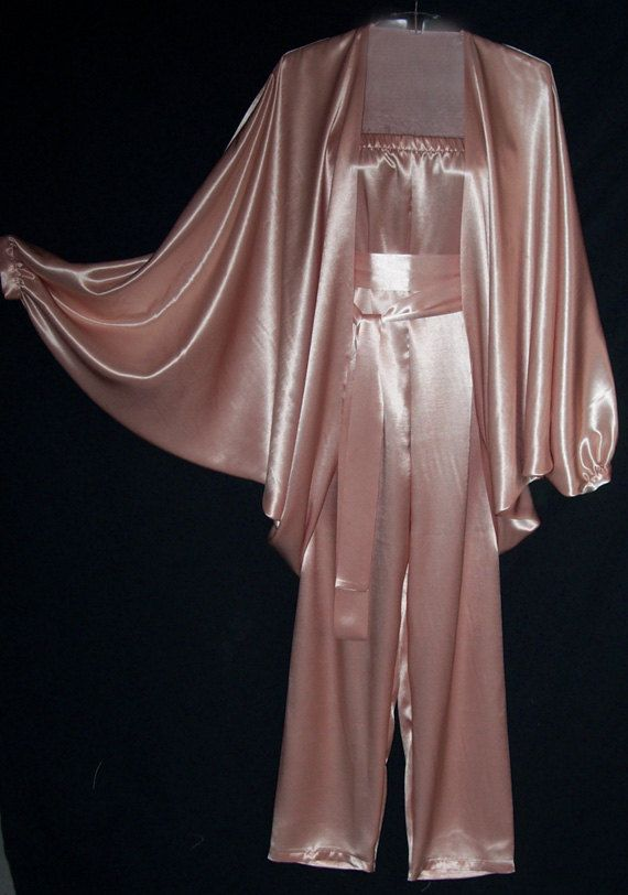 Dusty Pink Satin Charmeuse Strapless Jumpsuit and Jacket ...