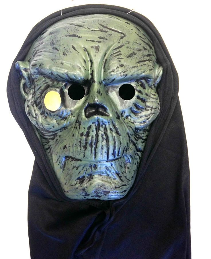 Premier Adult Halloween Blister Mask with Hood