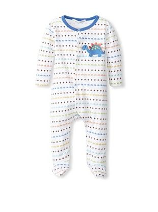 56% OFF Rumble Tumble Baby Dino Longsleeve Coverall (White)