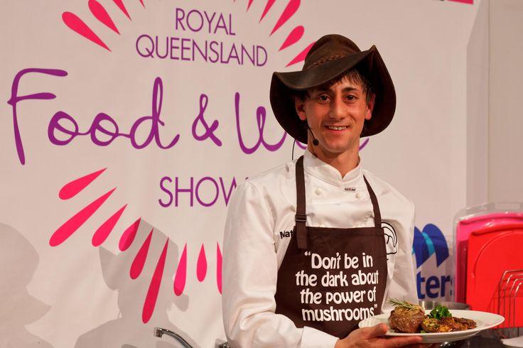 Outback Matty wearing his Jacaru Hat at Brisbane Ekka this week.