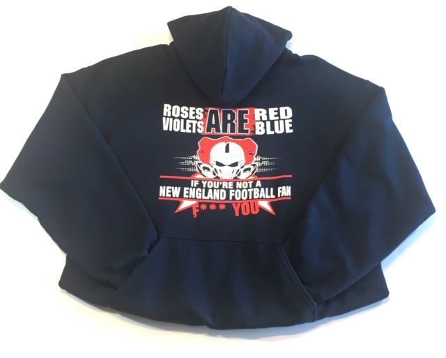 New England Patriots Unisex Hoodie Red White and Blue Size Large | eBay