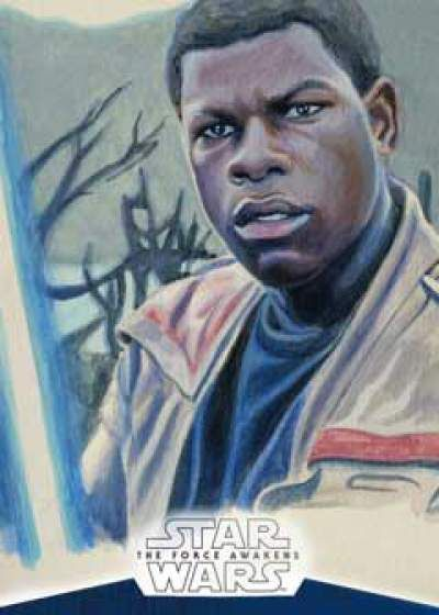Star Wars The Force Awakens Chrome Sketch Cards