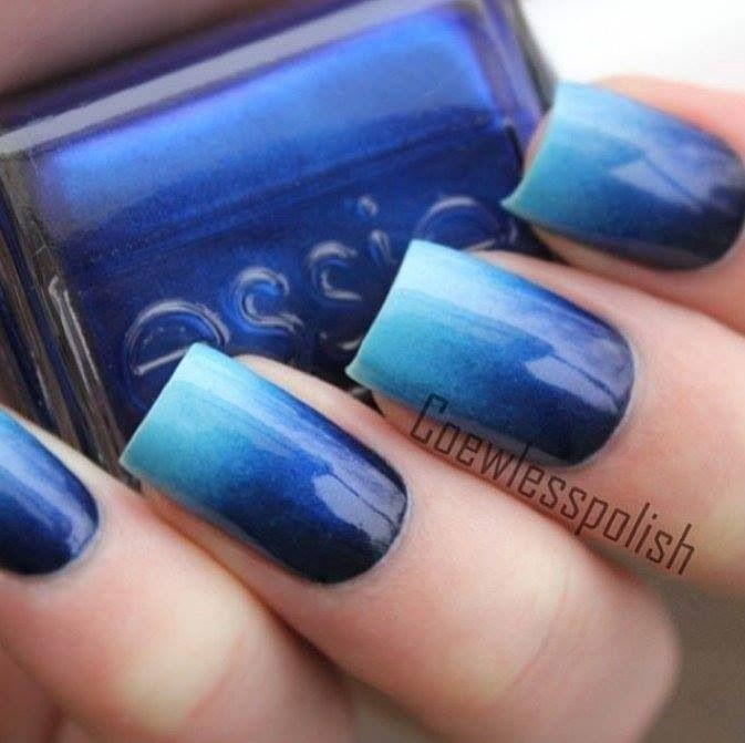 Ombre blue