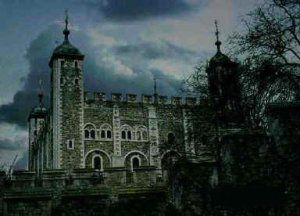 The Tower of London - there have been hundreds of ghost sightings, many rumored to be executed prisoners. Also rumored to be seen is the ghost of Henry VI's beheaded wife, Ann Boleyn; it's said that she's been seen carrying her own head. There are many other sightings as well; far too many to list!