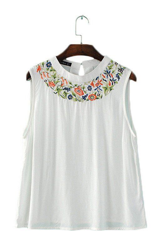 Specifications: Item Type:Tops Tops Type:Tees Gender:Women Decoration:Embroidery Clothing Length:Regular Sleeve Style:Regular Pattern Type:Floral Style:Fashion Fabric Type:Broadcloth Material:Cotton,P