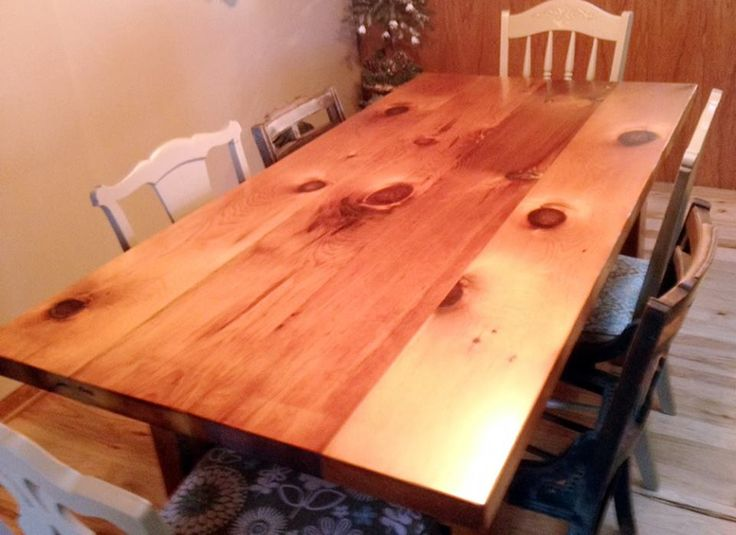 Perfect Here Is Another Great Customer Picture From Greg H. He Finished His Barn  Wood Table With Waterlox Original Sealer/Finish.