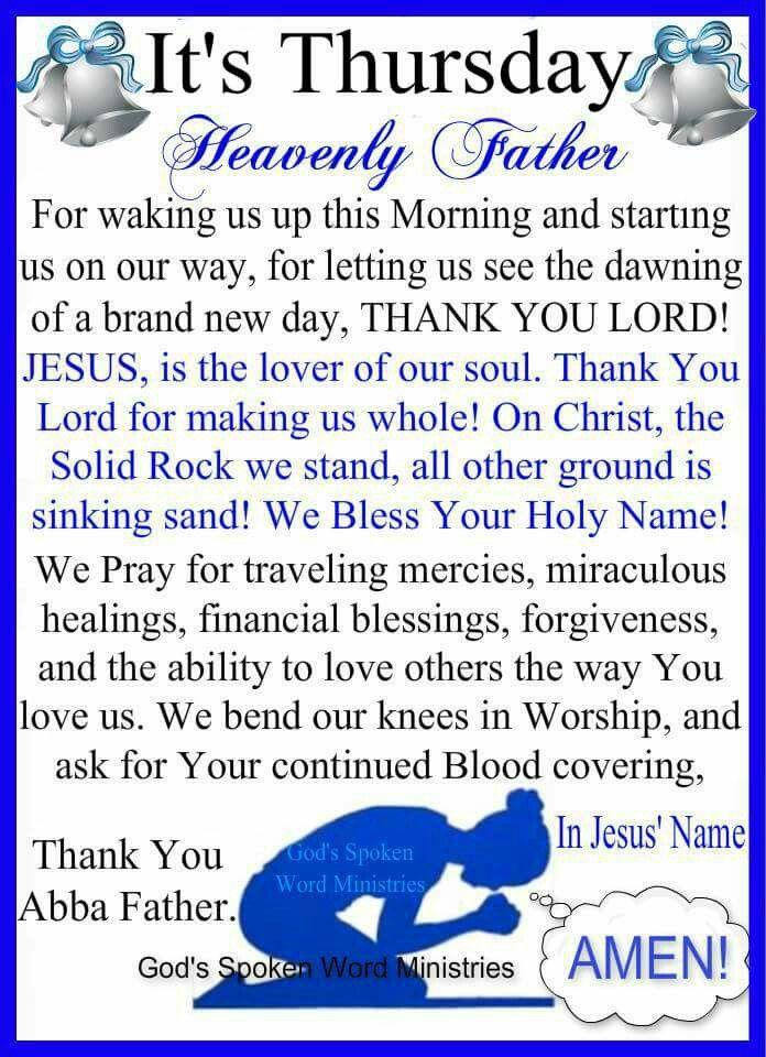 Thursday Blessings  |Thursday Prayers From The Heart