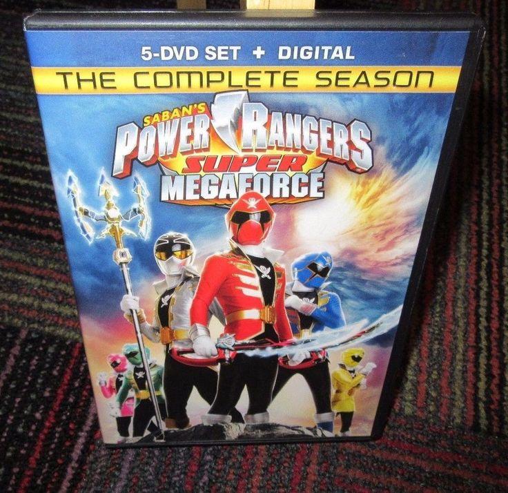 POWER RANGERS: SUPER MEGAFORCE THE COMPLETE SEASON 5-DISC DVD SET, 7 HOURS +