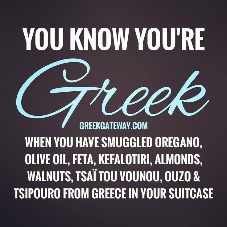 Ya know your Greek when series... haha lol