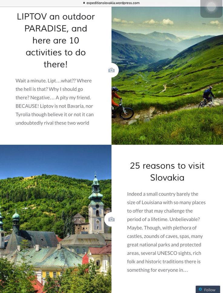 All reasons why to visit SLOVAKIA