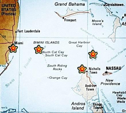 Bimini Florida East Coast  Bahamian maps  Maps of Bimini  The
