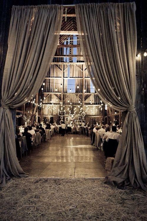 Gothic wedding decor idea, black grey and white.