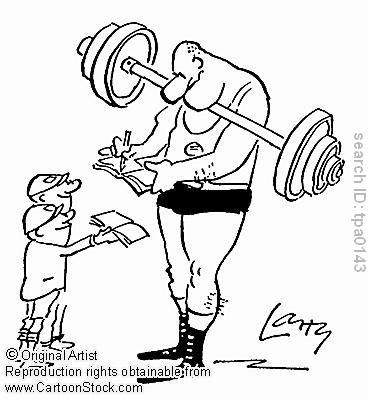 This is an example of social facilitation. The bodybuilder