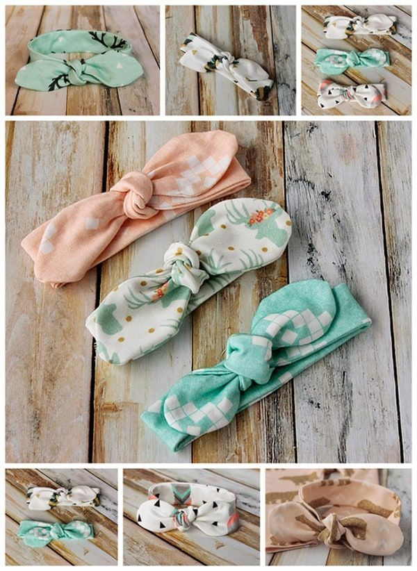 Are you ready for the perfect gift for a baby or toddler? Check out these too cute knotted-bow headbands. I'm totally gushing over these because as you can see, they are ridiculously cute!!!