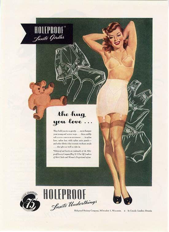 1940s Holeproof Hosiery #vintage #lingerie #ad