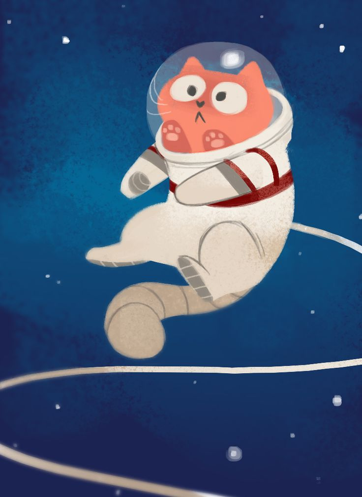 Daily Cat Drawings — 456: Space Cat Because space is awesome and it's...