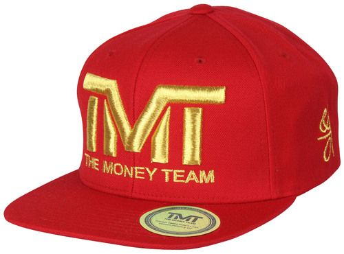 The Money Team TMT Floyd Mayweather Courtside Snapback Hat (Red/Gold)