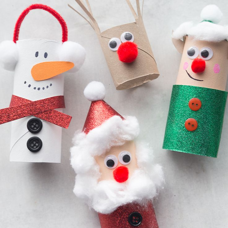 Christmas Rest room Paper Roll Crafts