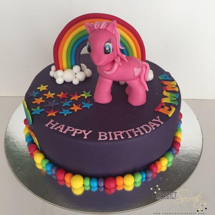 My little Pony Kids Novelty Birthday cake. Fondant icing and figurine. Rainbow Colours #mylittlepony #kidsbirthdaycake #rainbowcake www.sweetsecretsdubai.com @sweetsecrets.dubai