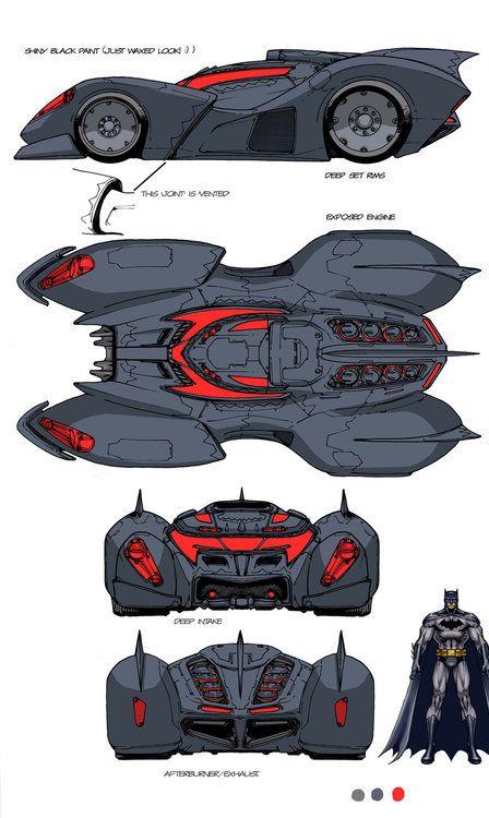 Batmobile & Batwing Designs by Carlos D'Anda