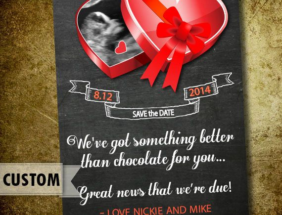 170 best Valentines Day Pregnancy Announcements images on – Ultrasound Baby Announcements