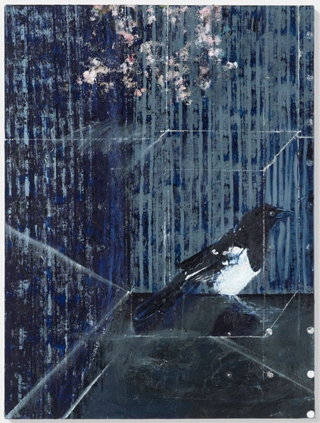 Damien Hirst, The Magpie (2010), Oil on canvas 40 x 30 in. (101.6 x 76.2 cm)