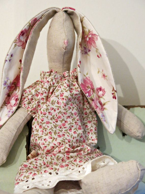 Linen Hare  Little Miss Appleblossom by CosmosandCotton on Etsy, $40.47