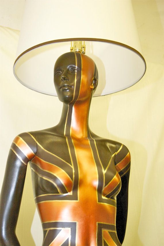 Hand Painted Mannequin Lamp Demi by hardheaddesigns on Etsy, $950.00 We  sell used mannequins at