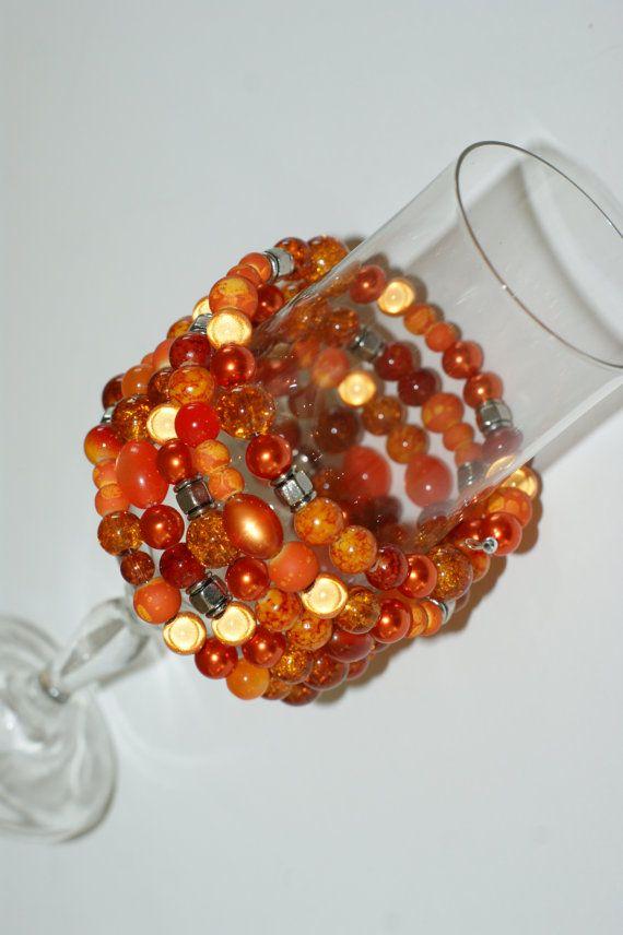 Bracelet bracelet  bracelet mémoire orange  par LesBijouxLibellule