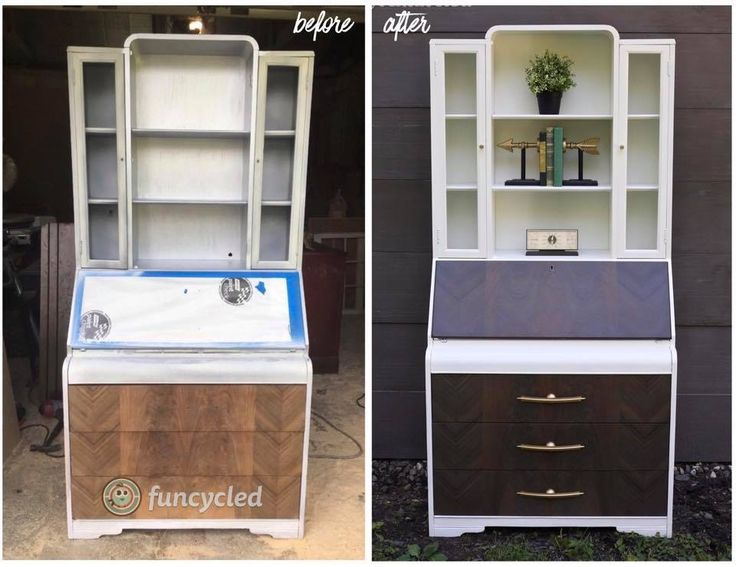 Waterfall Secretary Desk by FunCycled http://funcycled.com/projects/waterfall-secretaries-desk-tuesdays-treasures/ #secretarydesk #makeover #funcycled #interiors #repurposedfurniture #desks