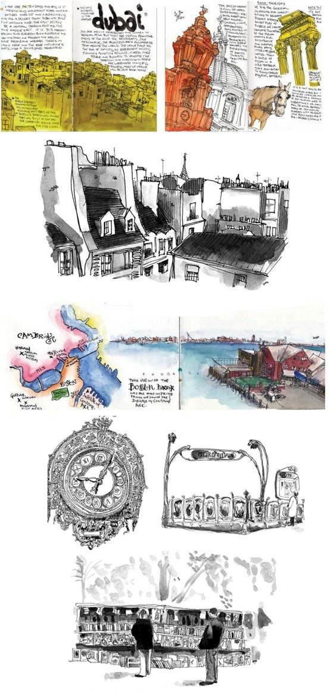 travel illustrations