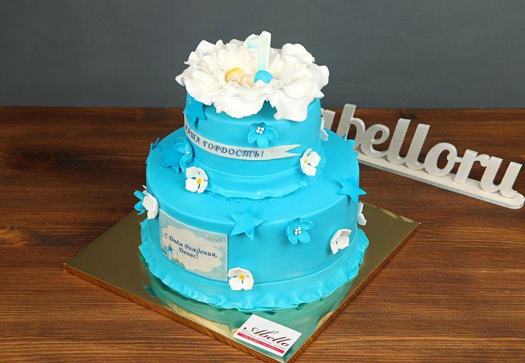 """Детский торт """"Гордость семьи""""  Рождение малыша - это настоящее чудо и этот день запоминается на всю жизнь не только маме и папе, но и всей семье👪 А поздравить с рождением маленького комочка счастья можно вкусным тортиком """"Гордость семьи"""". Этот милый торт с бабочками, цветочками и спящим младенцем👶 сделает день еще лучше! А по Вашим пожеланиям, мы оформим тортик и в розовом стиле, если у вас появилась маленькая принцесса, а не принц😉  С радостью изготовим #праздничныйторт от 2-х кг всего…"""