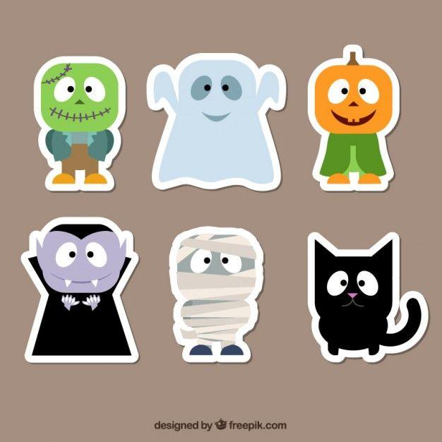 archivos-gratis-halloween-characters-stickers