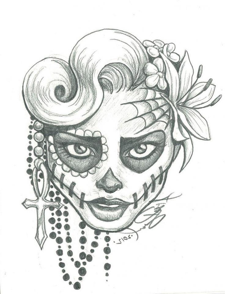 The 25+ Best Easy Skull Drawings Ideas On Pinterest