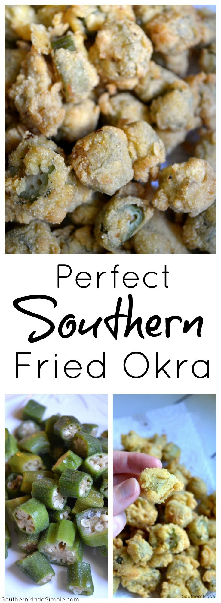 How to make a perfect batch of southern fried okra - so crispy and delicious!