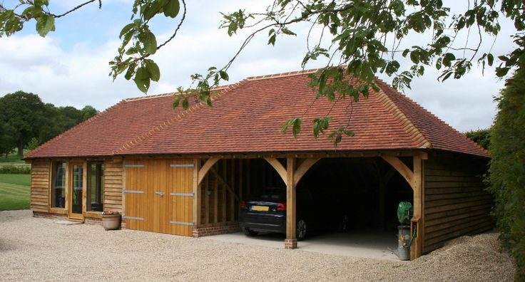 20 best images about garage ideas on pinterest oak doors for Brick carport