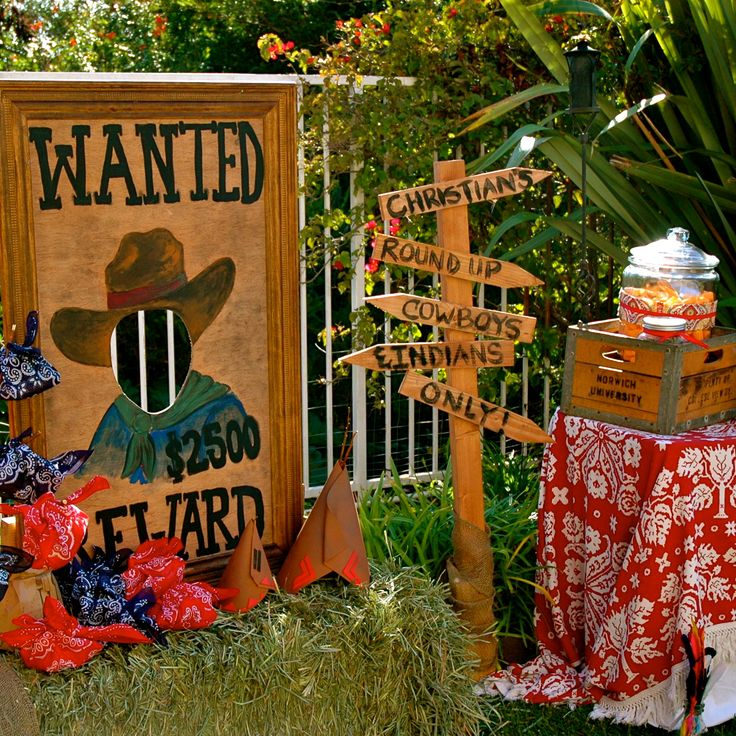 25 best ideas about cowboy party decorations on pinterest for Decoration western