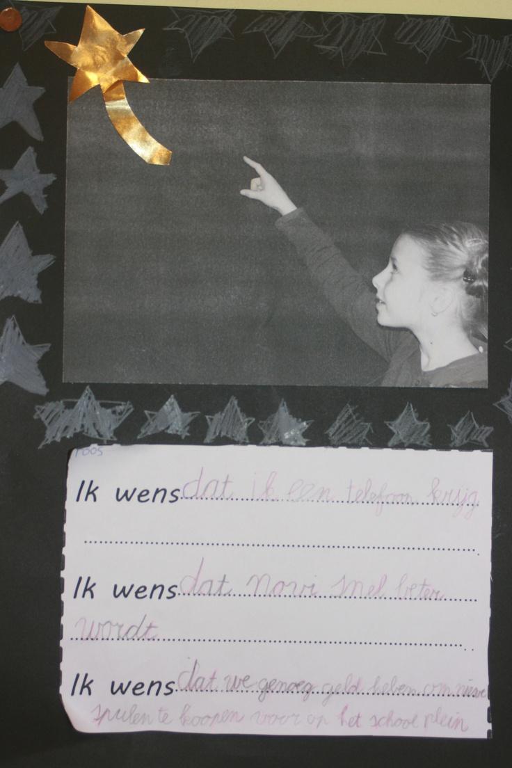 nieuwjaarswensen. je mag een wens doen als je een vallende ster ziet !.. een wens voor jezelf, voor een ander, en voor de klas/school.