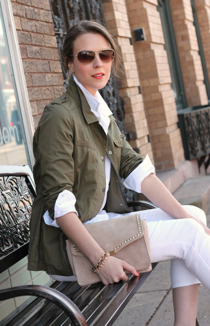 #olive and #white #Jacket -  Penny Pincher Fashion
