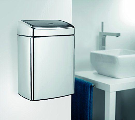 Brabantia 477201 Poubelle Touch Bin Rectangulaire avec seau en plastique 10 L - Inox Brillant: Amazon.fr: Cuisine & Maison